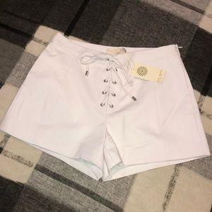 💋 Ramy Brook Camden Shorts White Side Zip